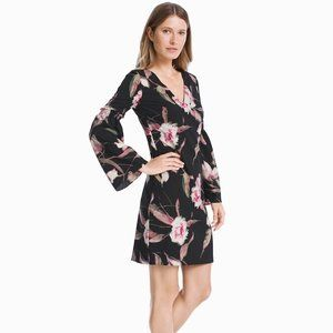 WHBM Long sleeve Floral Bell sleeve Shift dress
